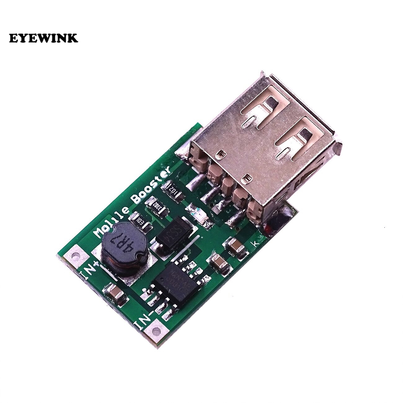 Повышающий преобразователь с USB на 2-5 в до 5 В, 1200 мА, мини-модуль питания, плата зарядного устройства для литиевых батарей для телефона, камер...