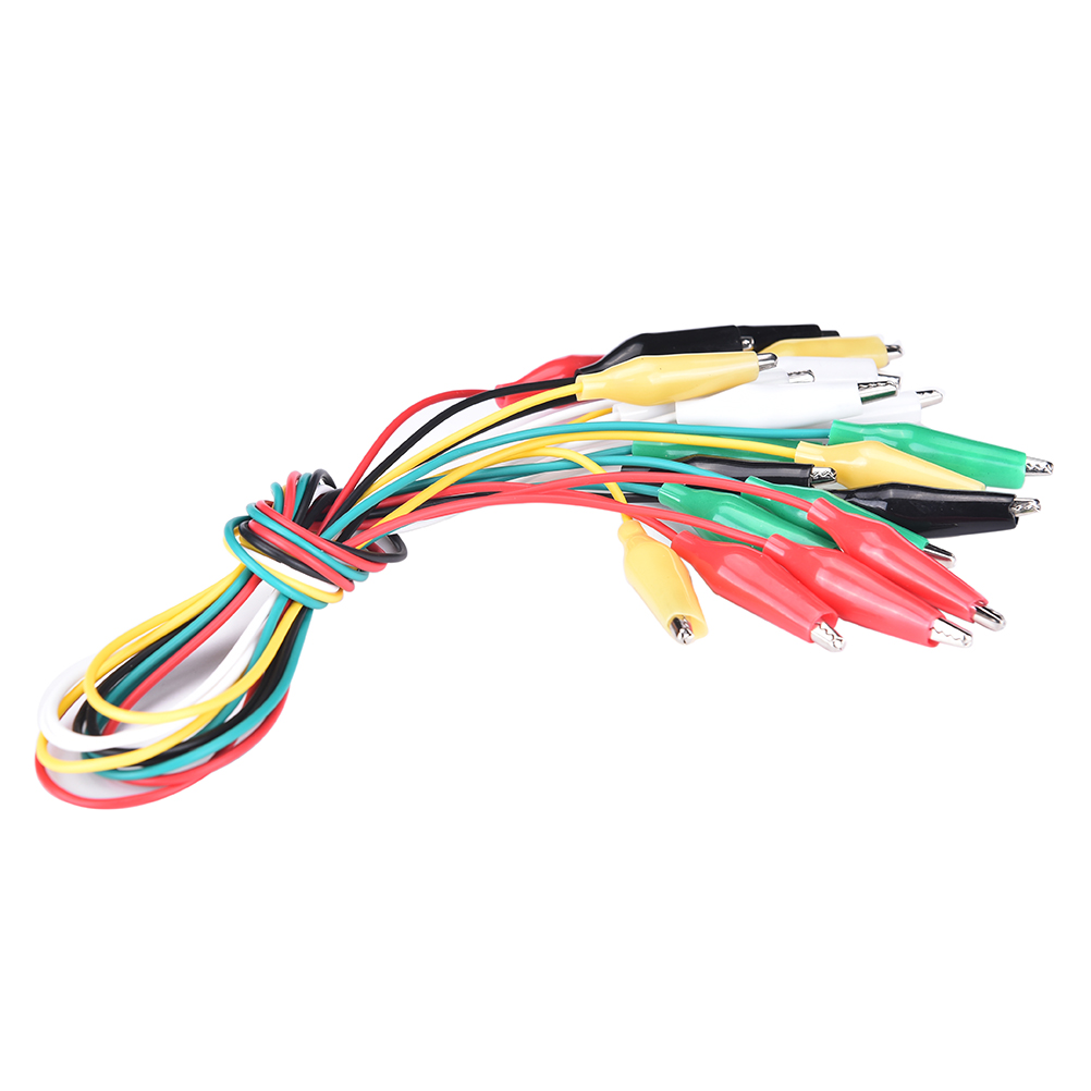 10 PCS Alligator Clip Test Cable Double-ended Crocodile Clips Cable Leads Clips Wire Electrical Testing Wires Probe