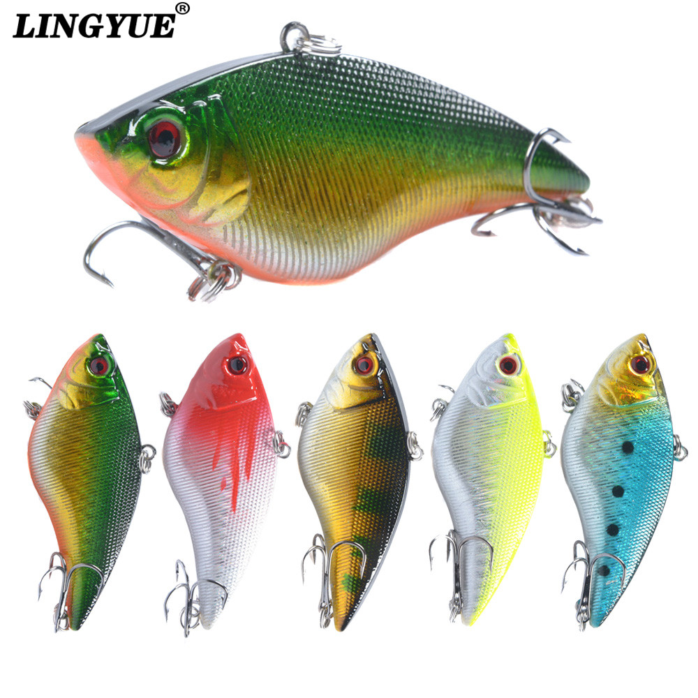 1PCS 16G Hard VIB Lures 7CM Fishing Bait Treble Hooks Sinking Crankbait Fishing Tackle 3pcs lot 95mm 16g pencil popper fishing lures crankbait crank bait tackle treble hook