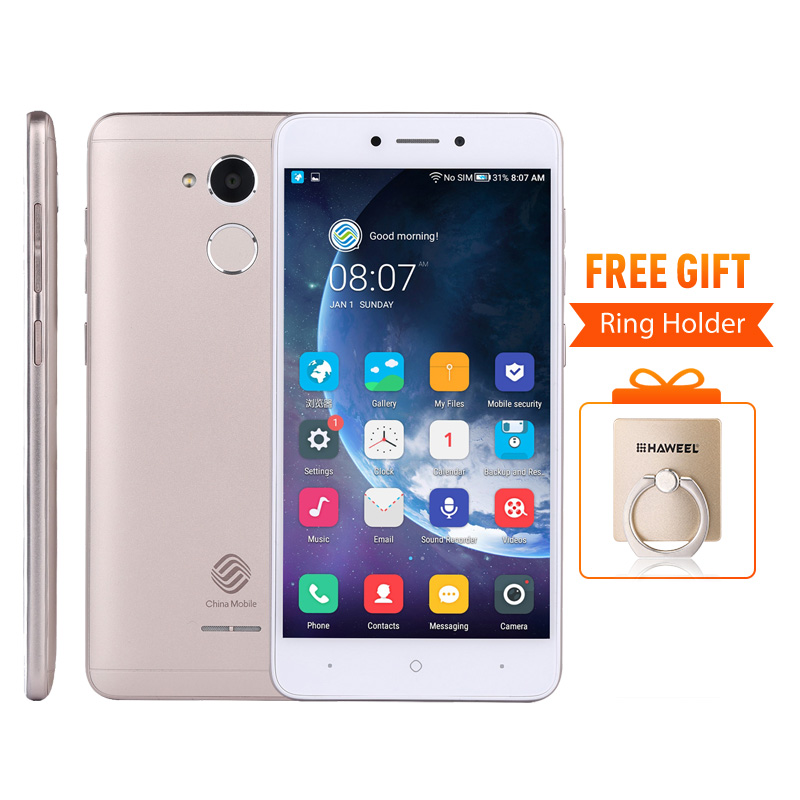 "China Mobile A3S M653 Snapdragon 425 Quad-Core 5.2 ""HD 1280*720 P 2 GB RAM 16 GB ROM Impronte Digitali Daul SIM Card FDD-lte Mobile Phone"