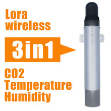 Ndir CO2 sensor with temperature humidity 0-100% lora wireless CO2 Sensor 433mhz/868mhz/915mhz agriculture carbon dioxide logger