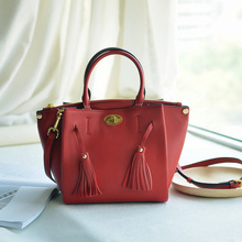 Europe street shooting a first layer of Soft Leather Laptop shoulder bag leather handbag all-match cross compartment