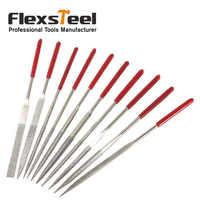 Flexsteel 10pcs/set 140X3mm Diamond Coated Needle Files Set Hand Tools for Ceramic Glass Gem Stone Metal Steel Hobbies and Craft