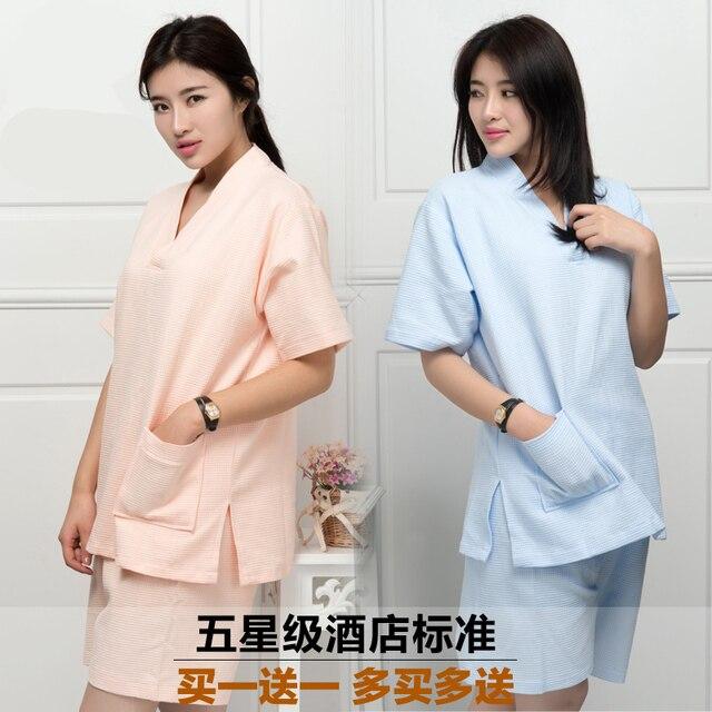 2ffc9aaf46 new women s cotton pajamas Bathrobe kimono hotel bathrobe spring and summer  Waffle sweat evaporate couples bath robe