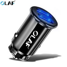 Olaf Mini USB Car Charger For Mobile Phone Tablet GPS 3 4A Fast Charger Car-Charger Dual USB Car Phone Charger Adapter in Car cheap 5V 3A Universal APPLE Samsung Xiaomi Huawei Lenovo MEIZU Sony Car Lighter Slot car charger for iphone 12-24V 2 4A Mobile Phone Charger USB Car Adapter Car Charging