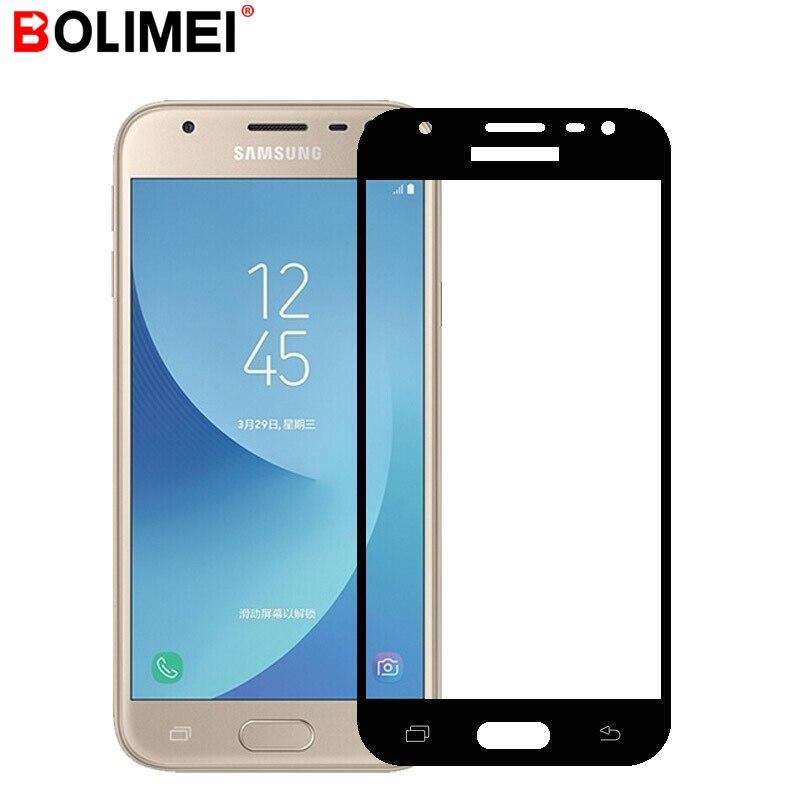 עבור סמסונג גלקסי J5 J7 J3 2015 2016 מלא כיסוי מזג זכוכית עבור Samsung Galaxy S7 A3 A5 A7 2017 2016 מסך מגן