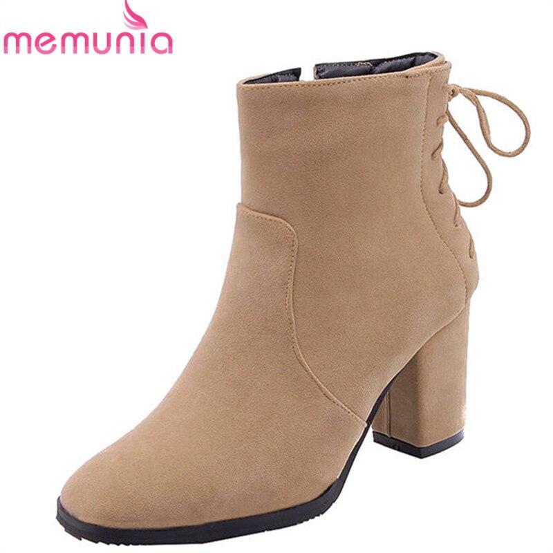 apricot Punta Simple Negro Square Zipper Otoño Invierno 2018 Mujeres Botas  gris Populares Botines Redonda Zapatos ... c2e503ab2afa