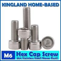 M6 DIN912 Hexagon Socket Head Cap Machine Screws Allen Metric 304 Stainless Steel Bolt HEX Socket