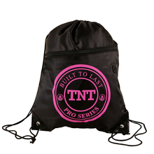 34*43cm 210D polyester drawstring bags with front zipper pocket