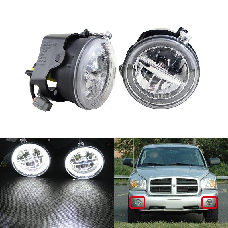 E4 E-Mark Approved For Dodge Dakota Durango For Chrysler 300 Aspen For Jeep Commander Grand Cherokee Led Fog Lights W/ DRL Ring chrysler grand voyager с пробегом москва