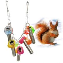 Colorful Pet Hanging Bell Ring Bird Parrot Squirrel Cage Bite Swing Stand Toy