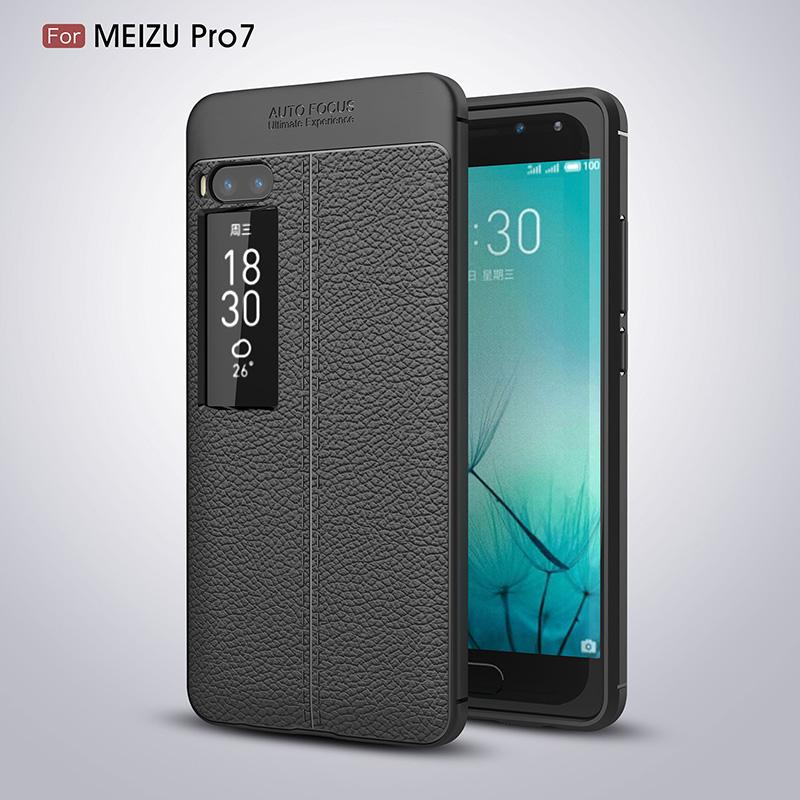 Litchi leather silicone case Meizu Pro 7 (12)