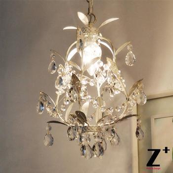 ענף עץ בסגנון וינטאג 'מדינה צרפתית k9 קריסטל רוקוקו palais אור מנורת תליון כלוב ברזל יצוק free חינם