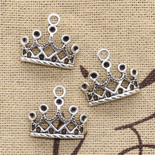 10pcs Charms crown 16x18mm Antique Making pendant fit,Vintage Tibetan Silver,DIY bracelet necklace(China)