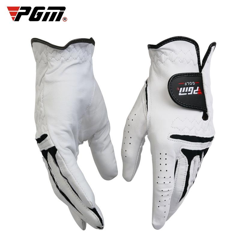 PGM 1Pcs Golf Gloves Men's Left And Right Hand Breathable Sports Gloves Pure Sheepskin Anti-Slip Mitten Golf Glove D0013