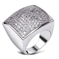 DC1989 Square Designs Women Wedding Rings Platinum Plated AAA Quality Cubic Zircon Setting Environmental Friendly Ring