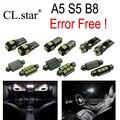 14 шт. Х canbus Ошибка Бесплатный LED Интерьер Свет Комплект Пакет для Audi A5 S5 B8 (2008-2013)
