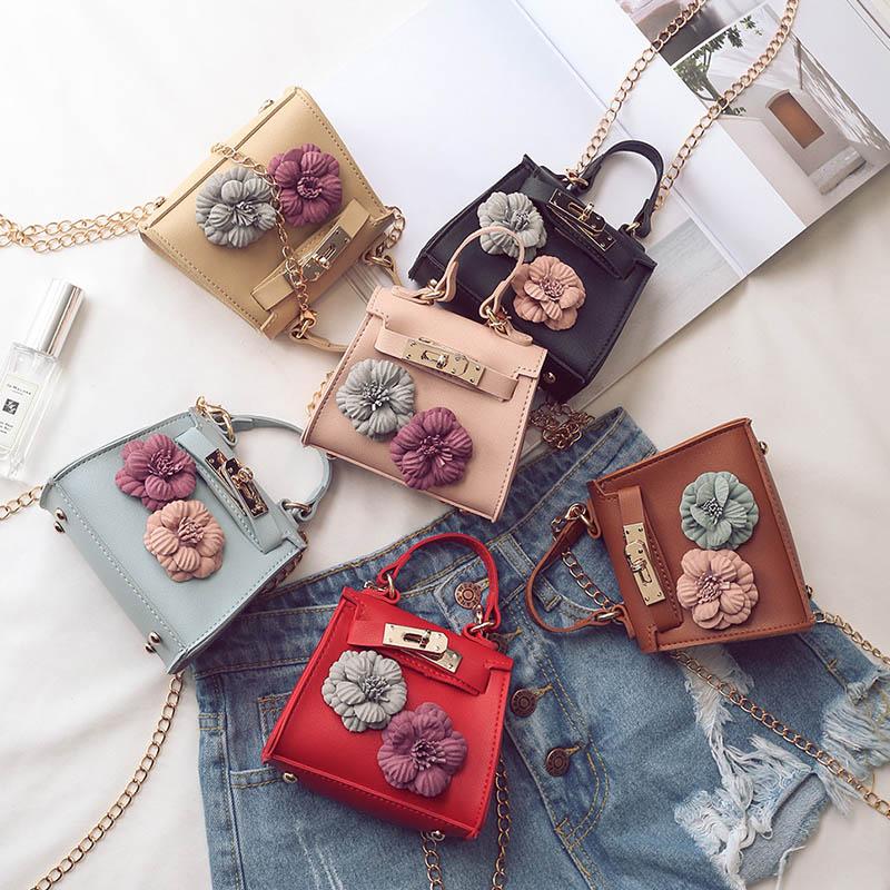 Fashion Women Mini Floral Handbag Shoulder Bag Chain Small ...