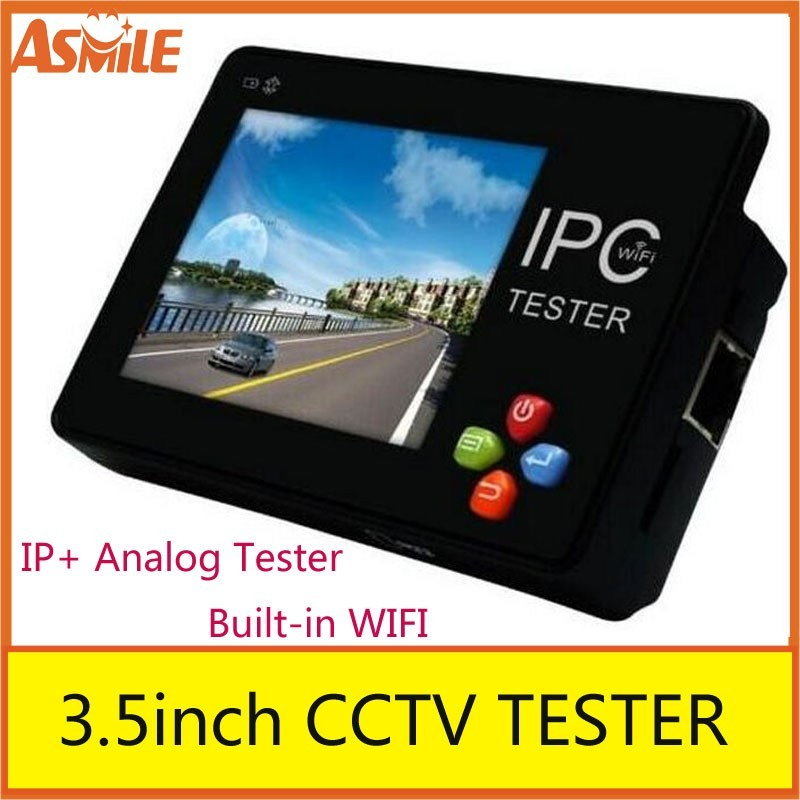 New 3.5 inch CCTV Onvif EU IP Camera Tester Touch Screen Video Monitor PTZ/WIFI/FTP Server/IP Scan/Port Flashing/DHCP IPC-1600
