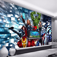 Photo Background Wallpaper Photography Captain America Movie Cartoon Office Bathroom Wall Mural Murals 3d Wall Papers