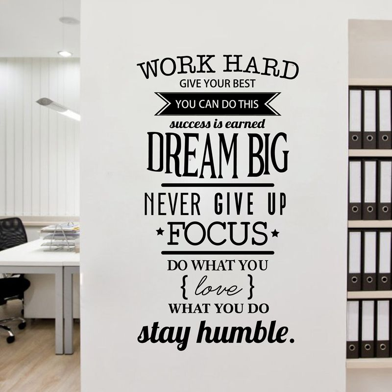 Free Shipping Motivation Wall Decals Office Room Decor Never Give Up