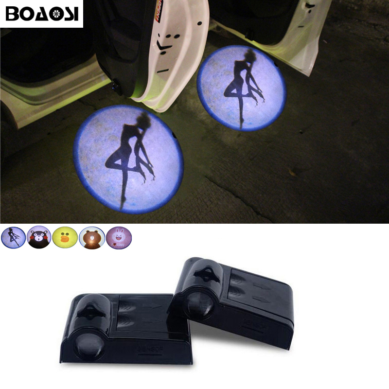 BOAOSI LED Car door logo projector light For Mazda 3 spoilers 6 atenza cx-5 323 5 2 mx5 626 cx5 cx 5 cx7 rx8 demio cx3 mx3 axela 4 x 54 мм 2015 2017 ford mustang s550 svt кобра 54 мм центр шапки 2 1 8 змея кобра r