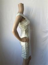 Cross V Neck Sleeveless Bandage Dress