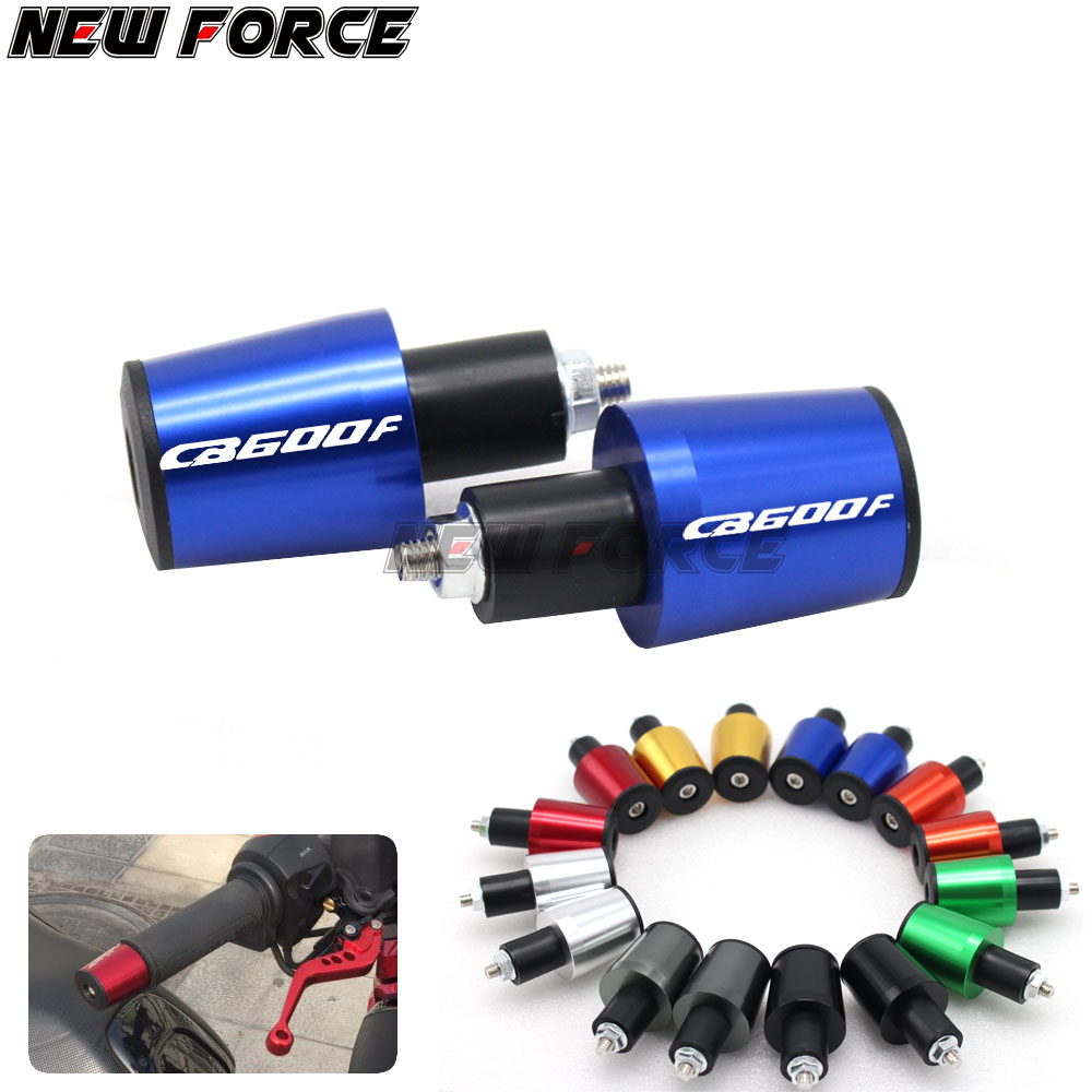 CNC 22MM Handlebar Grips Handle Bar Cap End P For Honda CB600F CB <font><b>600</b></font> F <font><b>Hornet</b></font> 2007-2013 <font><b>2008</b></font> 2009 2010 2011 2012 image