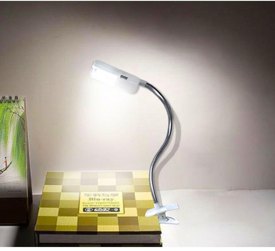 LED Book Light Mini Clip-On Flexible Bright Reading Lamp For Travel Bedroom Christmas New Year Children Baby Gift Night Lighting (10)