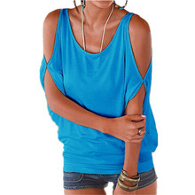 Casual Off Shoulder Solid Batwing Sleeve Blouse Woman Summer