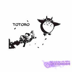 Pegatina Totoro стикер аниме мультфильм автомобиля виниловые наклейки на стену s Декор украшение дома