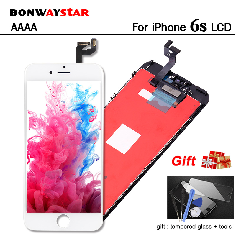 Full test Replacement Screen For iPhone 6S LCD Display 3d Touch Screen Assembly with Original Digitizer FOR 6S +2GIFT free ship