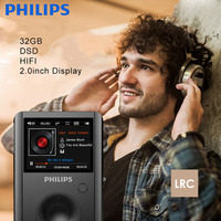 PHILIPS Portable MP3 Player With Remote Control Black With DSD SACD MP3 WMA Format Music LRC