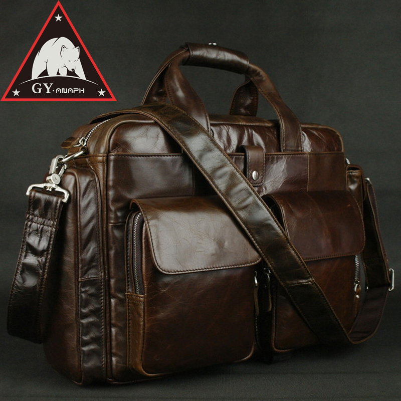 все цены на ANAPH Full Grain Leather Briefcases For Men, Attache 15.6