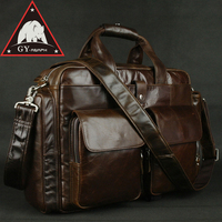 ANAPH Brand Men S Briefcase Coffee Imported Cow Leather Business Bags For 14 Inch Laptop High