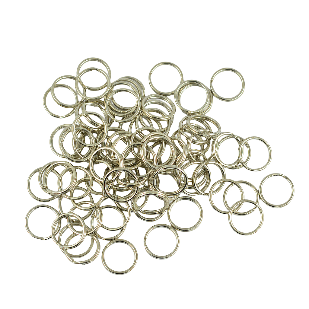 100 Pieces Wholesale Split Key Rings Loop Connectors DIY Making Findings Crafts Gold Silver Tone