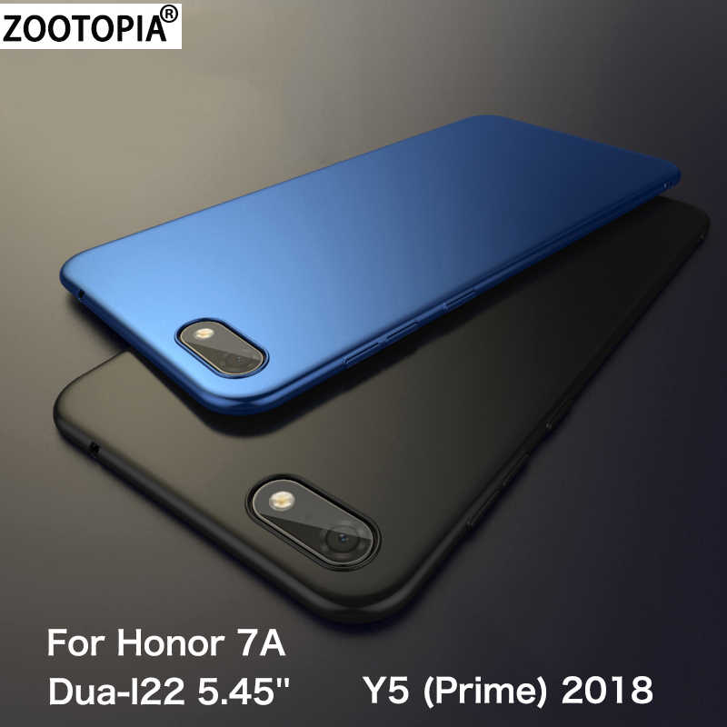 For Huawei Honor 7A Dua-l22 5.45'' Case Hard Matte Cover on Honor 7A Y5 Prime 2018 Y5 2018 Coque Honor 7A Russian Version Fundas