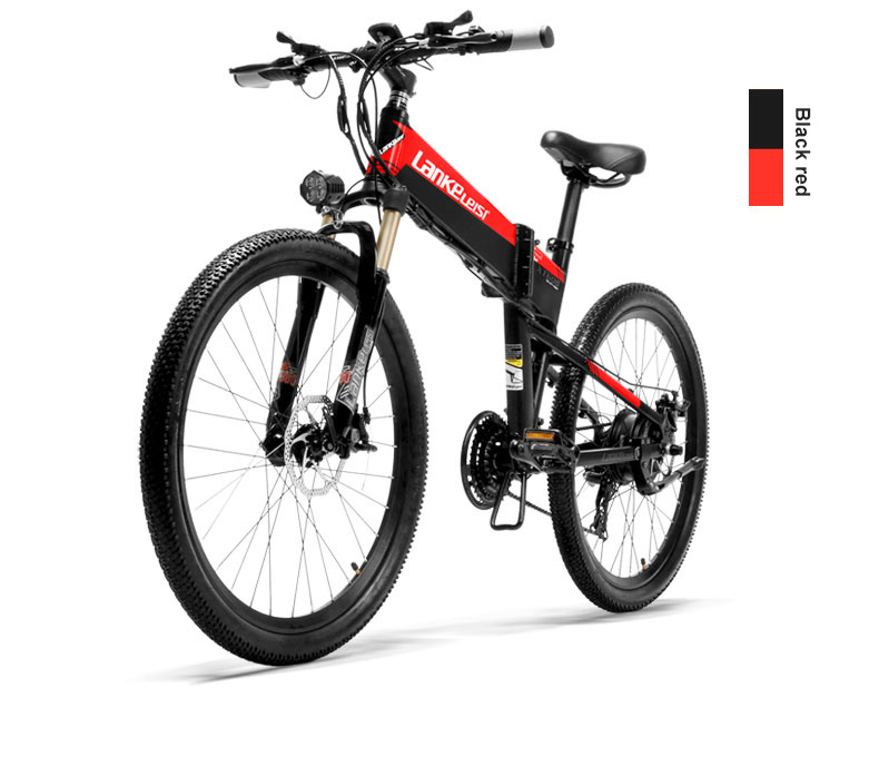 HTB1Cq6hXITxK1Rjy0Fgq6yovpXaH - 26inch electric mountian bicycle folding  frame 48V  lithium battery hidden frame 400w high speed motor range 60-100km