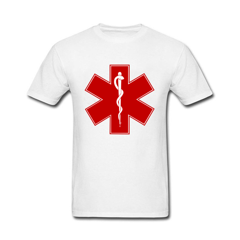 Natural Cotton Ambulance Funny   T     Shirt   for men
