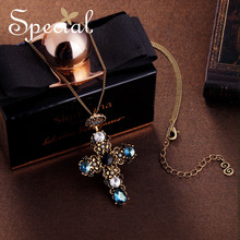 SPECIAL European and American retro necklace womens long chain body tide collarbone neck Raphael crown S2731N