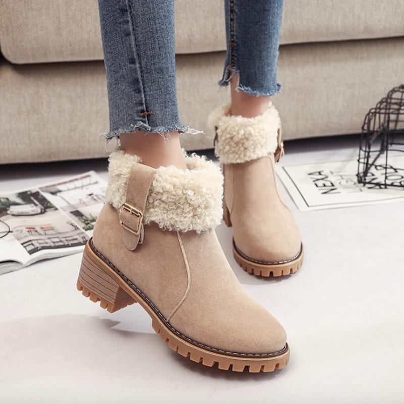 2018 Vrouwen Beste Warme Koop Flock Fashion Winter Laarzen Ademend wg4txq4