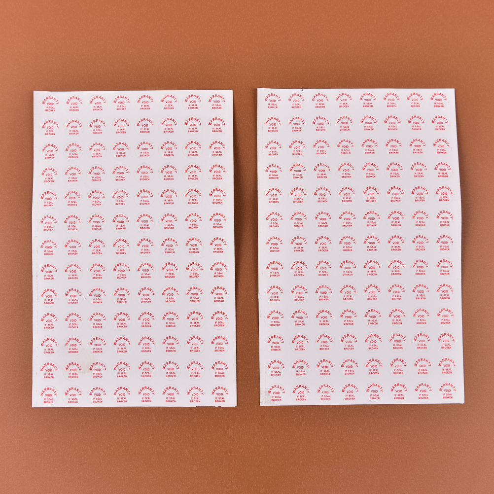 208pcs Warranty Sealing Label Sticker Void If Seal Broken Damaged Universal With Years Months Diameter 10mm