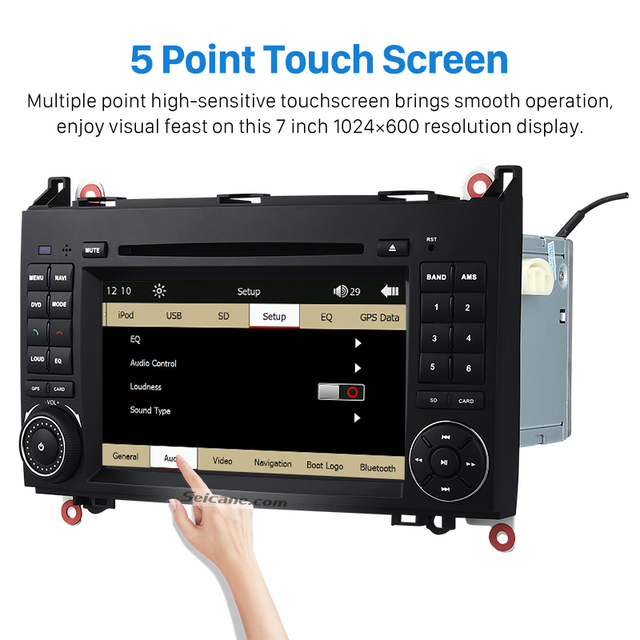 US $399 0 |Seicane OEM DVD Player For 2006 2012 Mercedes Benz Viano Vito  W639 GPS Navigation System USB SD CANBUS Rearview Camera-in Car Multimedia