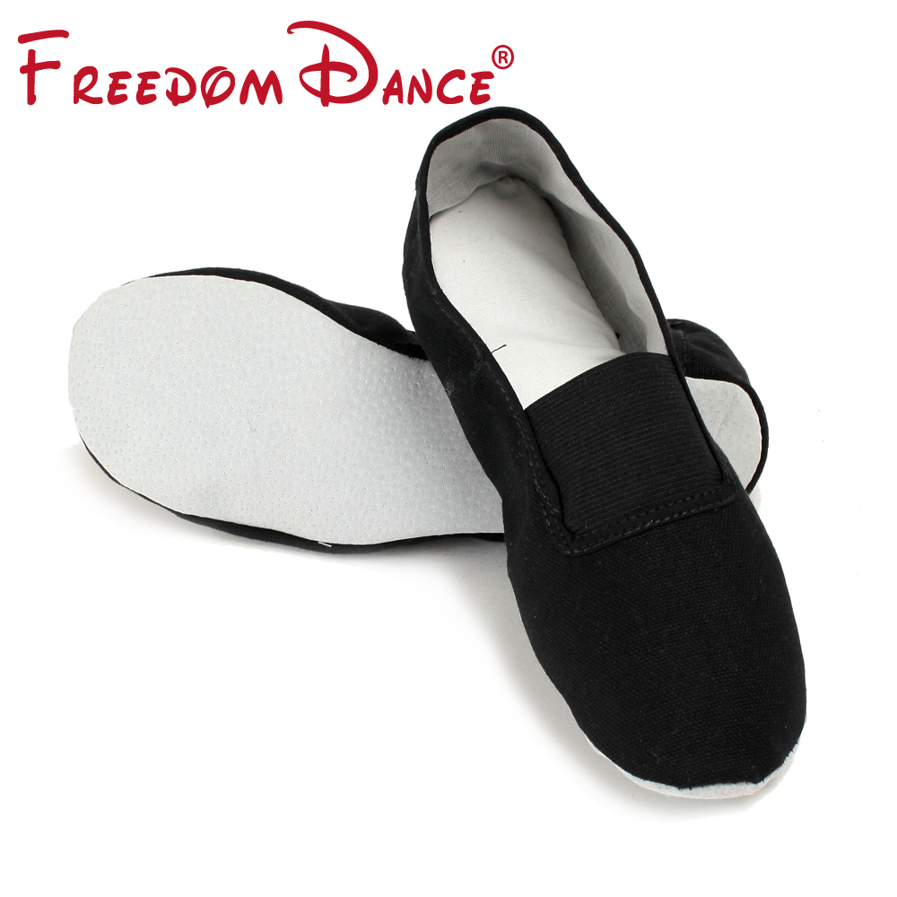 Slip-On Basic Child And Adult Soft Gym Fitness Shoes Canvas Ballet Yoga Dance Shoes For Girls Dancesport Shoes For Men Boys
