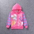 Venda quente 2017 nova outono inverno meninas roupas de bebê coreano jaquetas crianças cópia da flor dos desenhos animados crianças grosso casaco quente menina vestido