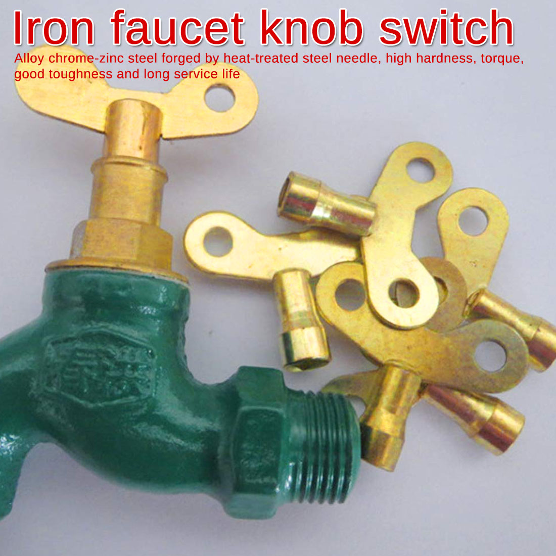 2PCS Key Bleed Hole Plumbing Faucet Special Lock Square Socket Brass Radiator Hardware Accessories Non-rust Tap
