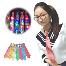 Фотография 30pcs/lot Newest design fashion Led necktie with battery light up tie novelty men suit ties performance decoration