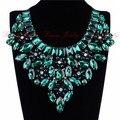 Jerollin 2015 de Noche Perfecto Partido Declaración Joyería de Moda Brillante de Cristal Colorido Gargantillas Collares Collar de La Cinta