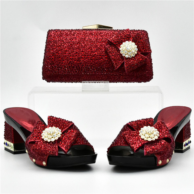 New Arrival Italian Shoes and Bags Set Envio Gratis African Matching Shoes and Bags Italian In Women Nigerian Women Wedding Shoe