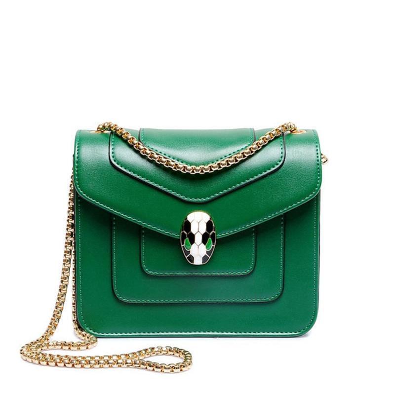 Alligator Famous Brand Enamel Snake Lock Decoration Women handbag 2018 big Luxury Evening Party Clutch Women